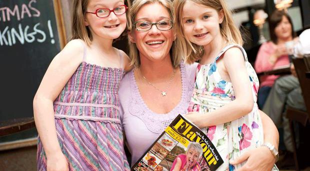Vicky with daughters Saya and Romy