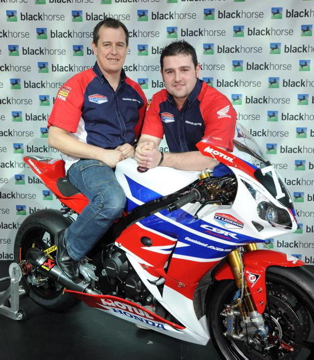 Honda TT Legends riders John McGuiness (left) and Michael Dunlop will meet fans province-wide next week