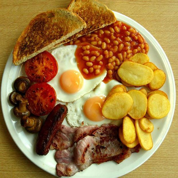 A fry-up is apparently no longer the meal of choice for tradesmen