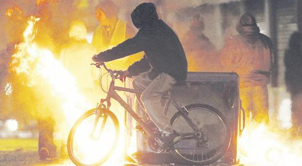 Deja vu: the rioting has stirred up fears familiar to those felt at the height of the Troubles