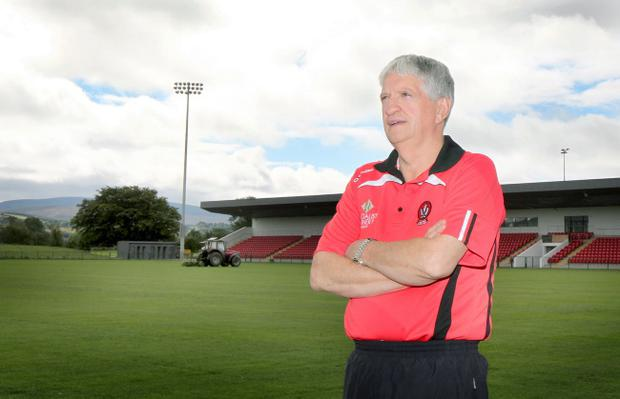Brian McIver hopes to get his opening victory as Derry boss when they take on UUJ on Saturday