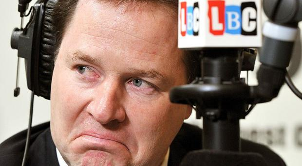 Deputy Prime Minister Nick Clegg spoke to a man who had torn up his Lib Dem membership card