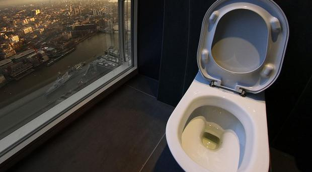 'Loo with a view' on the 68th floor of The Shard