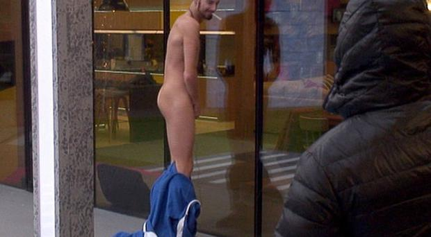 Rylan Clark stripped off inside the Celebrity Big Brother house