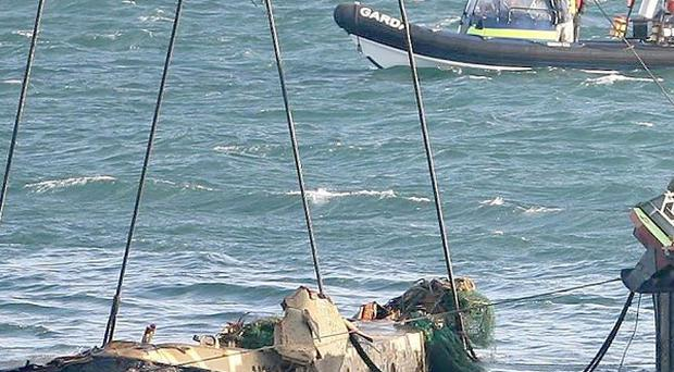 The wreck of the Pere Charles trawler six years ago after the death of five men off the coast of County Wexford