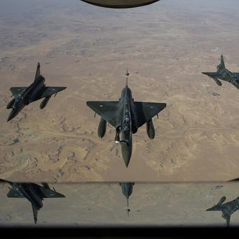 French Mirage jets on a mission in Mali (AP)