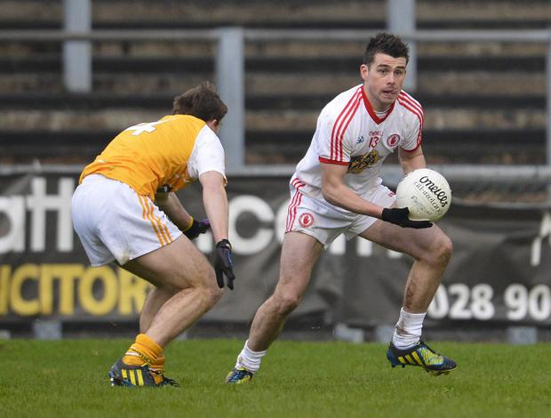 Newcomer Darren McCurry scored five points in Tyrone's win over Antrim in the Dr McKenna Cup
