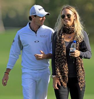 Rory McIlroy with other half Caroline Wozniacki