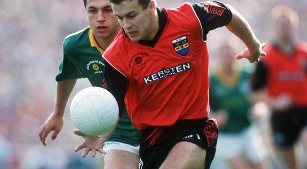 James McCartan in action here for Down in the 1991 All-Ireland