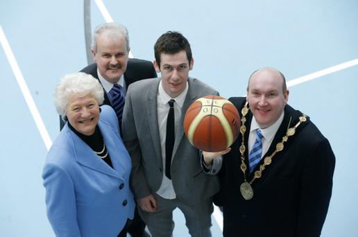 Pictured at the launch of Lisburn as the 2013 European City of Sport were (l-r): Dame Mary Peters, Cllr Thomas Beckett, Chairman of Lisburn City Council Leisure Services , Michael McKillop and Mayor, Ald William Leathem