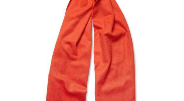 <b>1. Scarf £100, J Crew, mrporter.com</b><br/> This classy red cashmere scarf is the perfect garment for keeping warm in January, whether you wear it with a suit and overcoat or with a denim jacket and chinos.