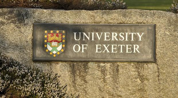 The University of Exeter's students' guild is investigating after two students were allegedly caught having sex on camera