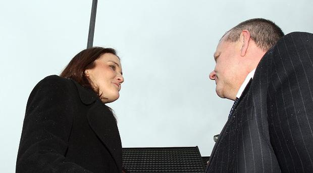 Northern Ireland Secretary Theresa Villiers meets Michael Copeland MLA in east Belfast