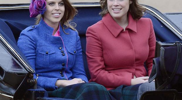 Princess Beatrice (left) and Princess Eugenie are visiting Germany