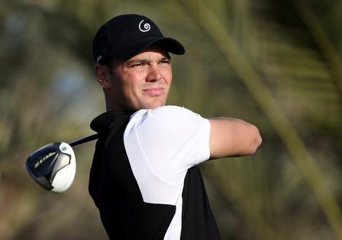 ABU DHABI, UNITED ARAB EMIRATES - JANUARY 17: Martin Kaymer of Germany on the 14th tee during the first round of the Abu Dhabi HSBC Golf Championship at the Abu Dhabi Golf Club on January 17, 2013 in Abu Dhabi, United Arab Emirates. (Photo by Ross Kinnaird/Getty Images)