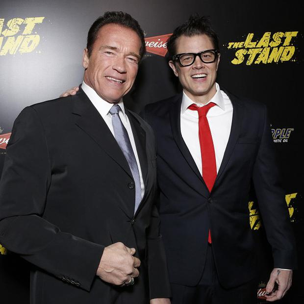Arnold Schwarzenegger and Johnny Knoxville star in The Last Stand