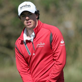Rory McIlroy had a mixed round in Abu Dhabi
