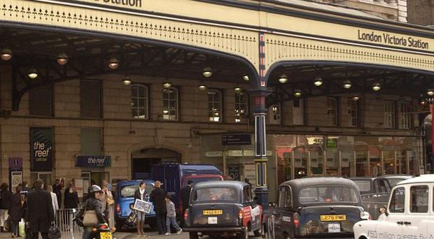 Victoria station was evacuated after a fire on a train