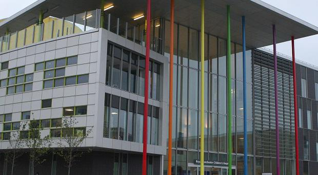 A two-year-old boy is being treated at Manchester Children's Hospital after he drank caustic soda
