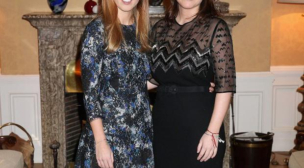 Princess Beatrice and Princess Eugenie at the British Ambassador's Residence in Berlin, Germany