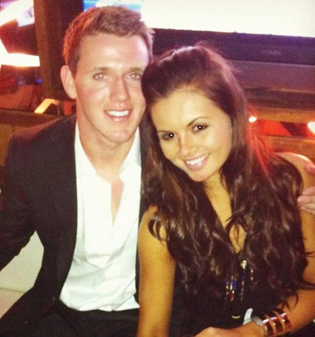Tiffany Brien with boyfriend, Ulster star Craig Gilroy