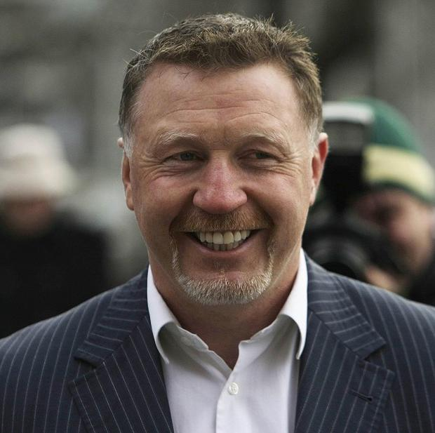 Steve Collins, pictured, has announced he will take on Roy Jones Jr at the age of 48