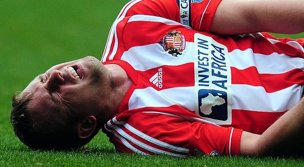 Lee Cattermole is likely to miss the trip to Wigan after jarring his injured knee in practice