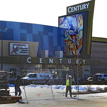 The Century cinema in Aurora, Colorado where a gunman killed 12 people and wounded dozens of others (AP/Ed Andrieski)