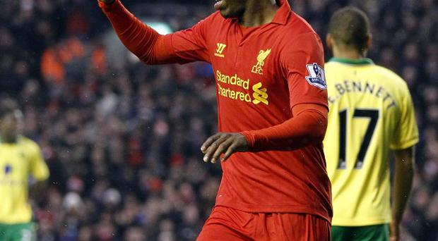 Daniel Sturridge was on target with Liverpool's third goal in their victory over Norwich