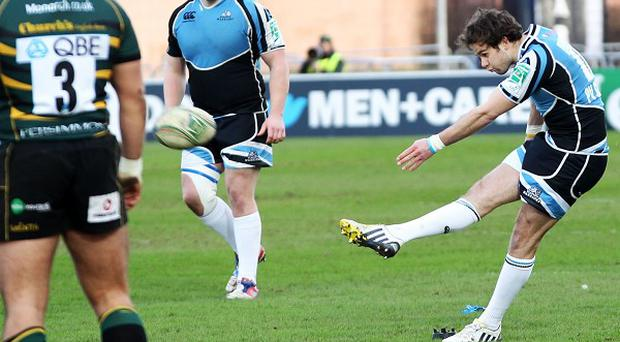 Ruaridh Jackson, right, kicked two penalties for Glasgow