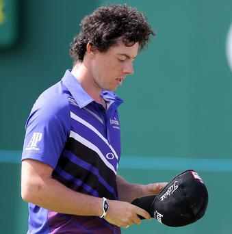 Rory McIlroy struggled to get to grips with his new Nike clubs