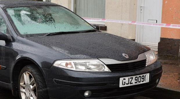 A Renault Laguna car that was used in a kidnap and robbery in the Bangor area of Co Down (PSNI/PA)