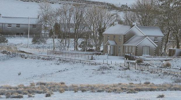 About 900 homes in Northern Ireland were left without power as a result of heavy snow and high winds