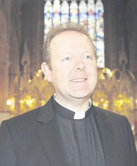 Monsignor Eamon Martin at St Patrick's Cathedral in Armagh