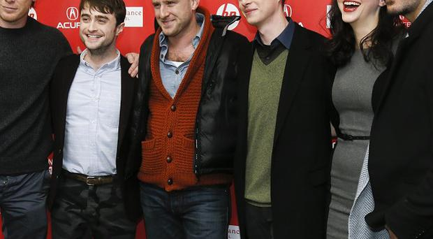 Daniel Radcliffe and the cast of Kill Your Darlings, including Erin Darke (second right)