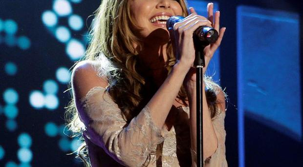Nadine Coyle performing at the Sons and Daughters concert in Londonderry