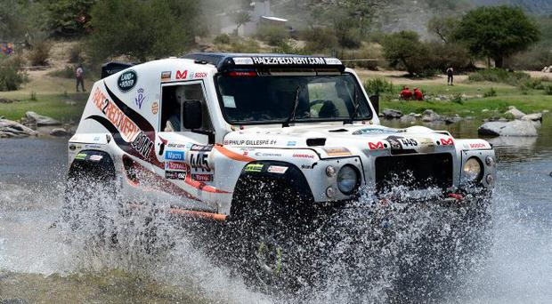 Matthew O'Hare and co-driver Phillip Gillespie on stage 10 of the 2013 Dakar Rally in Argentina