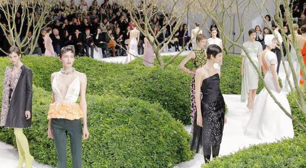 Models display the Christian Dior Spring/ Summer 2013 Haute- Couture collection