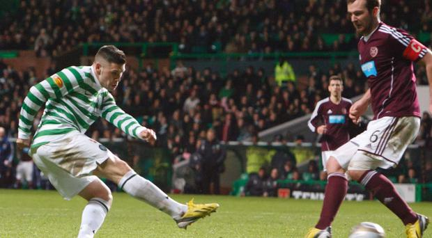 Despite seeing a bid from Norwich City rejected, Gary Hooper showed his commitment to net twice on Saturday