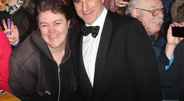 Daniel Day-Lewis meets fans on the red carpet at the Savoy cinema in Dublin, for the European premiere of Lincoln