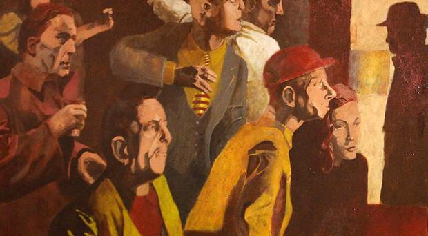 A Noel Murphy Painting called 'the Blind leading the Blind' which has been reduced 50% from £4000 to £2000