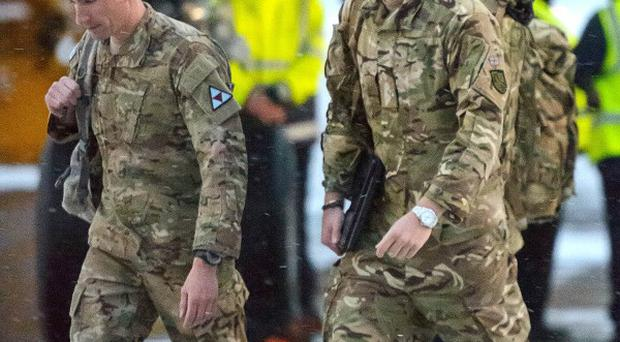 Prince Harry said it was 'great to be back'