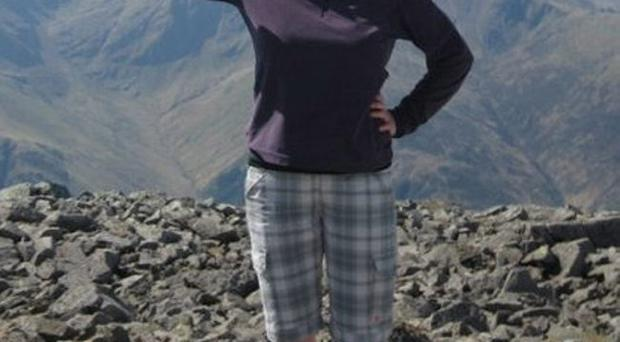 Una Finnegan on the top of Ben Nevis during a recent climb