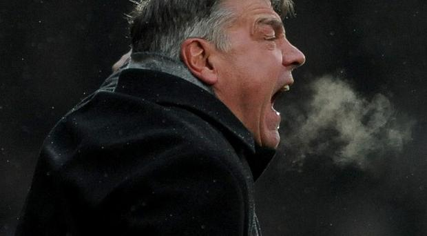 Sam Allardyce was unhappy with a decision that went against West Ham at Old Trafford