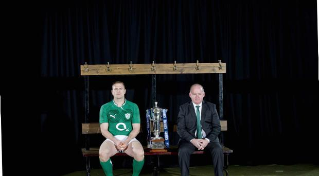 Ireland captain Jamie Heaslip and coach Declan Kidney count down to their Six Nations opener away to Wales in little over a week's time