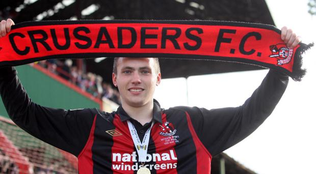 Crusaders old boy Stuart Dallas will be watching Saturday's IRN-BRU League Cup final