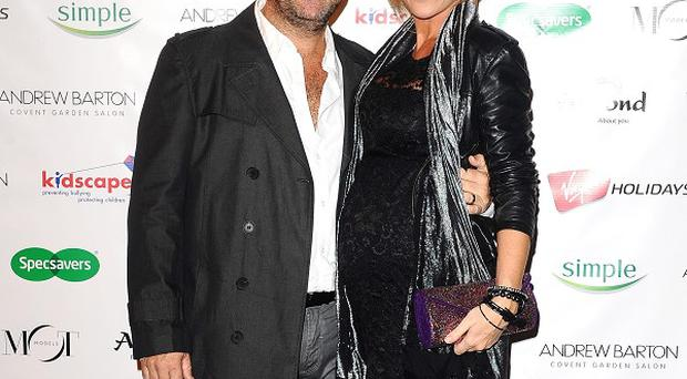 Jenny Frost and Vicente Juan Spiteri have welcomed twin daughters Blake and Nico