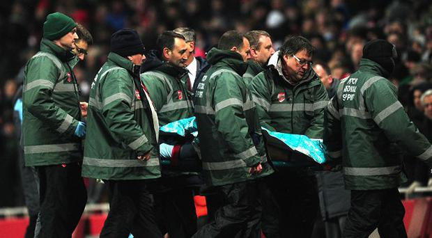 Daniel Potts suffered a head injury against Arsenal