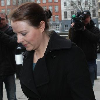 Sean Quinn's daughter Aiofe arrives at the Commercial Court in Dublin