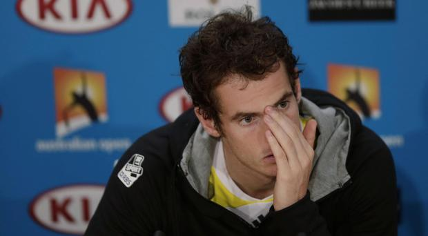 Britain's Andy Murray speaks in a press conference after his loss to Serbia's Novak Djokovic in the men's final at the Australian Open tennis championship in Melbourne, Australia, Monday, Jan. 28, 2013. (AP Photo/Andy Wong)